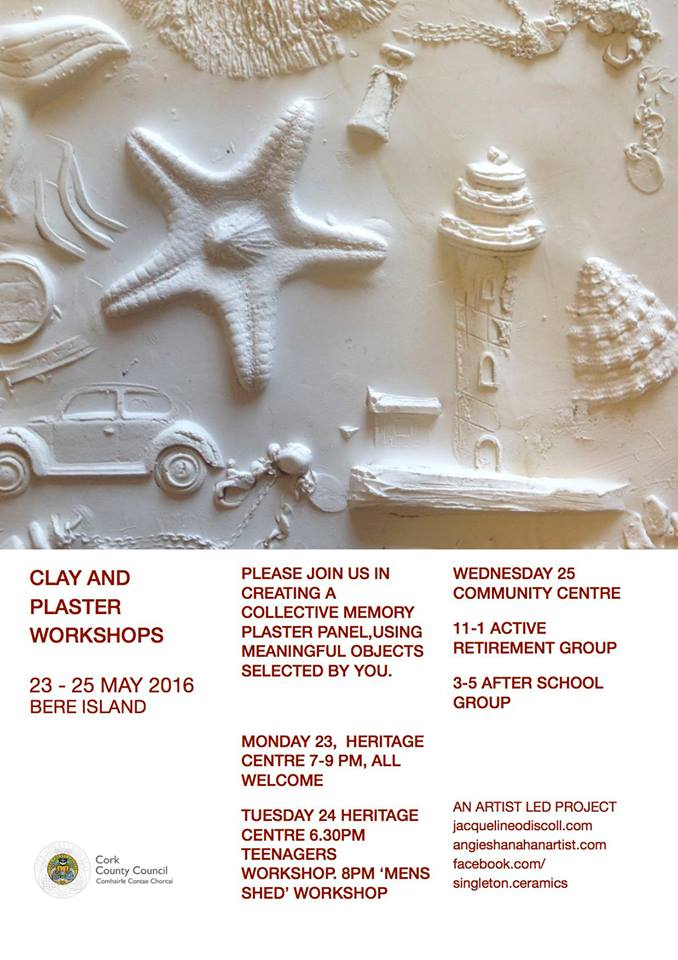Clay & Plaster Workshops @ Various locations | Cork | Ireland