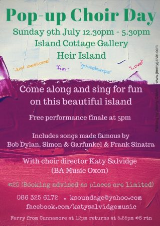 Pop Up Choir Poster Heir Island
